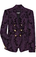 Balmain Double-breasted Brocade Jacket - Lyst