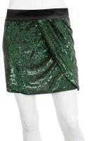 Haute Hippie Sequin Wrap Mini Skirt - Lyst