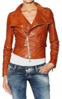 DSquared2 Biker Leather Jacket - Lyst
