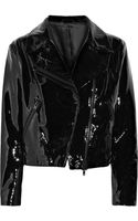 Acne Studios Rita Patent-leather Biker Jacket - Lyst