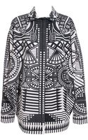 Holly Fulton Print Jacket with Batwing Sleeves - Lyst