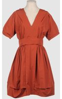 Narciso Rodriguez Short Dress - Lyst