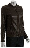 MICHAEL Michael Kors Bittersweet Leather Quilted Detail Zip Jacket - Lyst