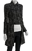 Rag & Bone Black Wool Tweed Napoleon Convertible Coat - Lyst