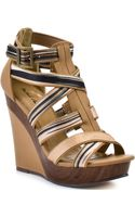 Michael Antonio Gunner Wedge - Tan Fabric Pu - Lyst