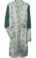 Clemens En August Printed Silk Dress - Lyst