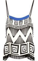 Diane Von Furstenberg Layland Embellished Stretch-silk Camisole - Lyst