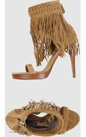 Ralph Lauren Collection Platform Sandals - Lyst