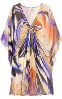 Matthew Williamson Blur Lace Silk-chiffon Kaftan - Lyst