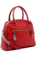 Michael Kors Michael Joan Large Satchel Red - Lyst