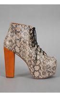 Jeffrey Campbell Lita Shoe In Ivory Python - Lyst