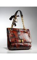Lanvin Python Happy Shoulder Bag - Lyst