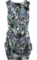 Peter Pilotto Shield Printed Silk-satin Dress - Lyst