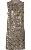 Lanvin Embellished Cotton and Silk-blend Dress - Lyst