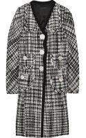 Marc Jacobs Wool-blend Tweed Coat - Lyst