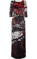 Tibi Forest-print Silk Maxi Dress - Lyst