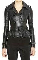 Burberry Prorsum Soft Nappa Leather Jacket - Lyst