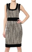 D&G Tweed and Stretch Wool Cloth Dress - Lyst