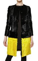 Giambattista Valli Mink Waist and Lambs Fur Coat - Lyst