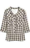 Etoile Isabel Marant Cotton-voile Plaid Shirt - Lyst