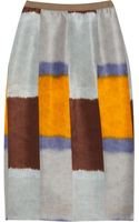 Marni Printed Silk and Linen-blend Pencil Skirt - Lyst