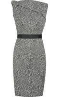 Victoria Beckham Speckled Tweed Draped Dress - Lyst