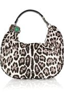 Jimmy Choo Solar Leopard-print Calf Hair Hobo Bag - Lyst
