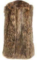 Co. Long Knit Fur Vest - Lyst