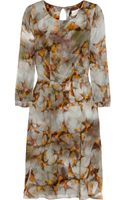 Erdem Angelica Swallowprint Silk Dress - Lyst