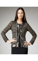Misook Collection Sequin-trim Lurex Jacket - Lyst