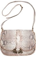 Derek Lam Python Ume Large Saddle Bag - Lyst
