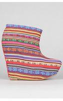 Jeffrey Campbell The Zorey Shoe in Red Multi Stripe - Lyst