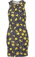 Topshop Daisy Peter Pan Bodycon Tunic - Lyst