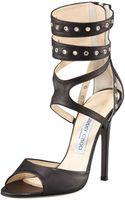 Jimmy Choo Grommet Ankle-wrap Sandal - Lyst