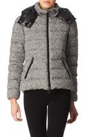 Moncler Tweed Quilted Hood Jacket - Lyst