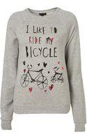 Topshop Bicycle Sweatshirt - Lyst