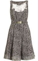 Class Roberto Cavalli Floral Embroidered Dress - Lyst