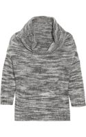 Lela Rose Cowl-neck Knitted Marl Sweater - Lyst