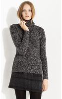 Burberry Brit Marled Turtleneck Sweater - Lyst