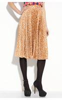 Tucker Pleated Silk Skirt - Lyst