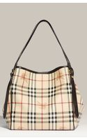 Burberry Logo Crest Check Print Tote - Lyst
