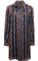 Proenza Schouler Long Sleeve Shirt Dress - Lyst