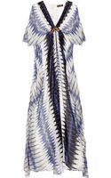 Antik Batik Flame Printed Silk-chiffon Gown - Lyst