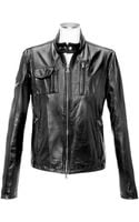 Forzieri Black Italian Leather Motorcycle Jacket - Lyst