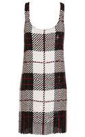 Ashish Sequin Tartan Dress with Fringing - Lyst