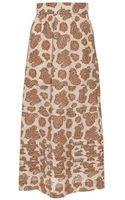 Chloé Paisley-print Silk Skirt - Lyst