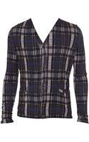 Christopher Kane Tartan Silk-cashmere Knit Cardigan - Lyst