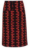 Marni Crepe-wool Pencil Skirt - Lyst