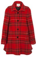 Opening Ceremony Plaid Wool-blend Flared Coat - Lyst