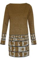 Suno Printed Wool and Cotton-blend Knit Dress - Lyst